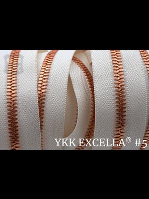 YKK Excella® Excella® #5 Bright Copper van de rol - (A2 - ivoor 841)