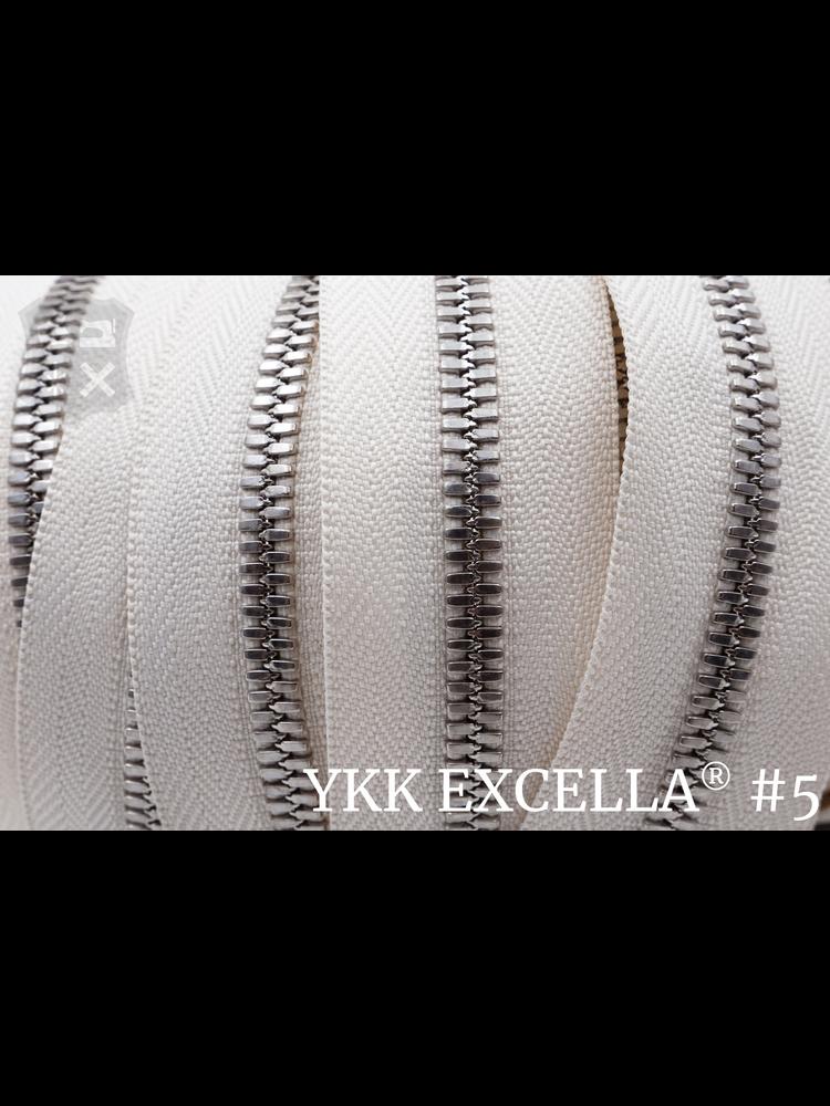 YKK Excella® Excella® #5 Zilver van de rol - (A2 - Ivoor 841)