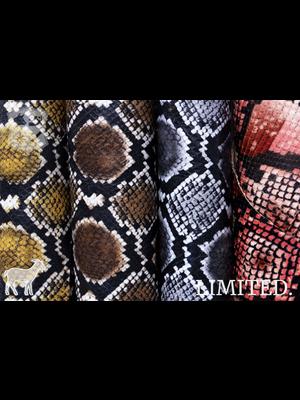 Geiten leder met Python print, diverse kleuren