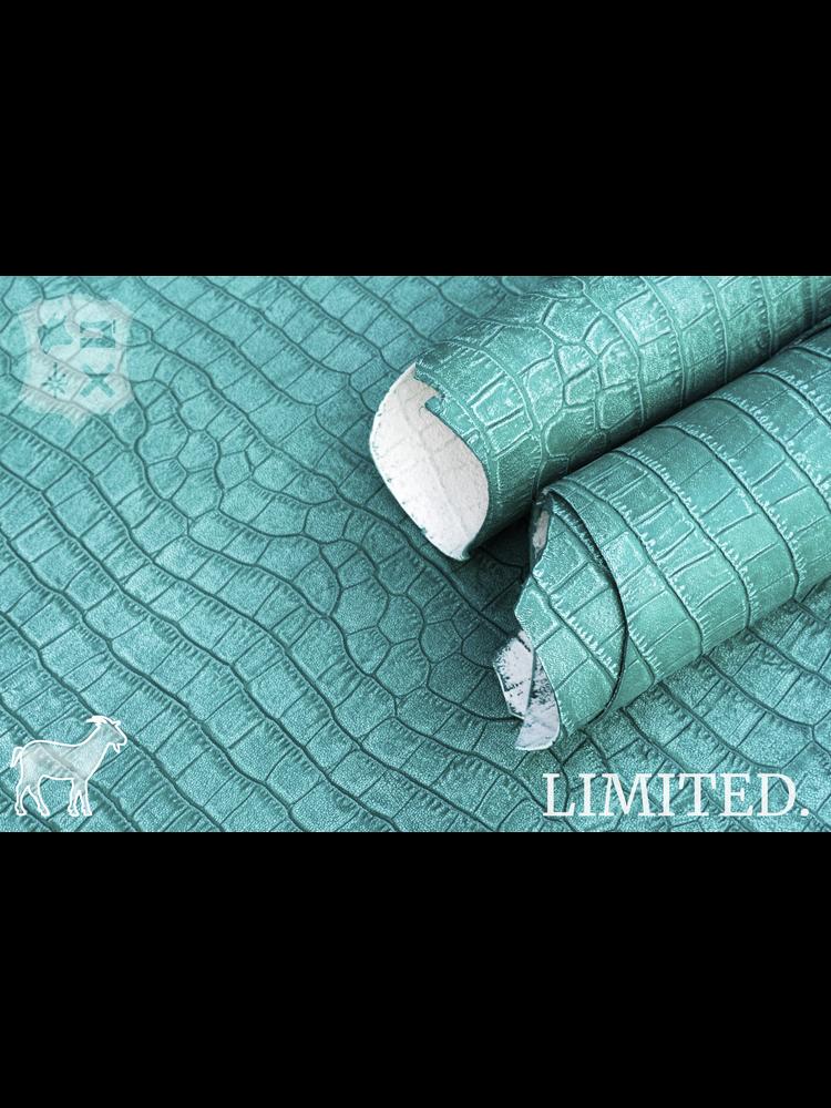 Geiten leder met Kroko-print, diverse kleuren