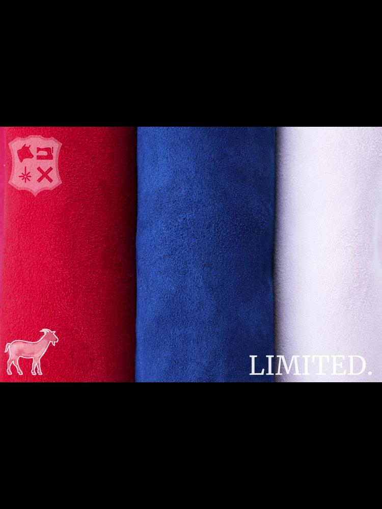 Nerfsuede geitenleder, diverse kleuren