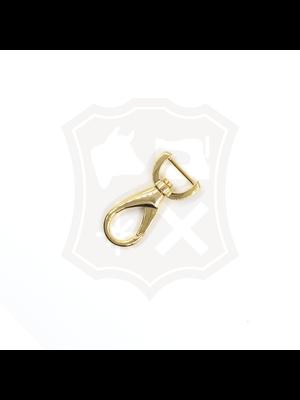 Musketonhaak, goudkleurig, 15,2mm, lengte 47mm