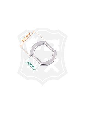 Ovale Tashengsel Bevestiging, goudkleurig, binnenmaat 20mm (2 stuks)
