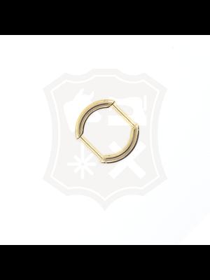 Ovale Tashengsel Bevestiging, goudkleurig, 20mm (2 stuks)