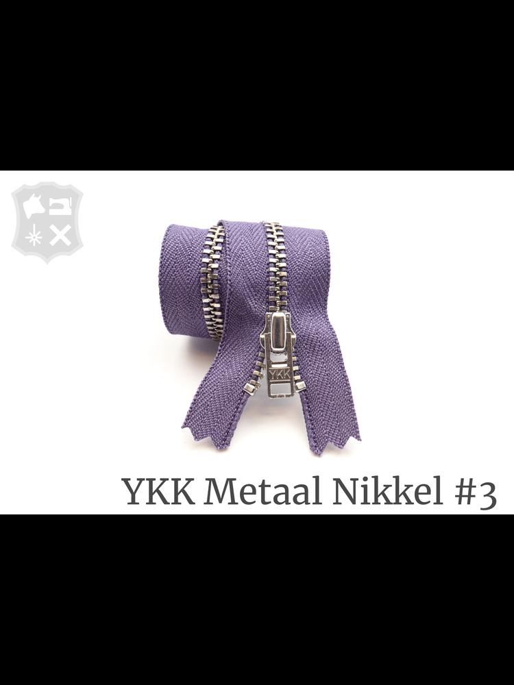 YKK Metaal YKK Metalen rits #3 Zilver, geremd, 15 cm - Paars 380