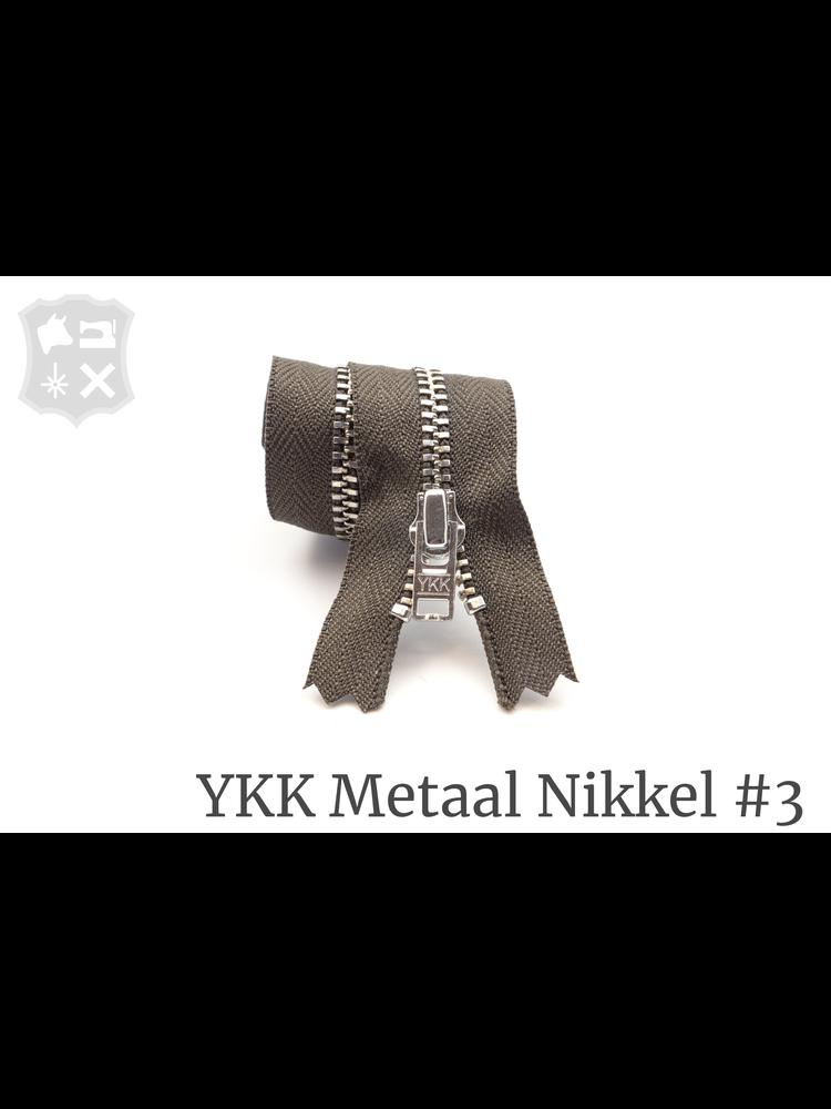 YKK Metaal YKK Metalen rits #3 Zilver, geremd, 15 cm -  Donker Taupe 394