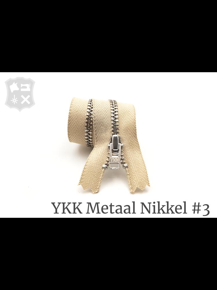 YKK Metaal YKK Metalen rits #3 Zilver, geremd, 15 cm - Zand 371
