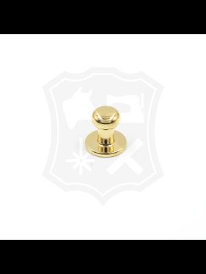 Geweerknop, goudkleurig, kop 7mm (20 stuks)