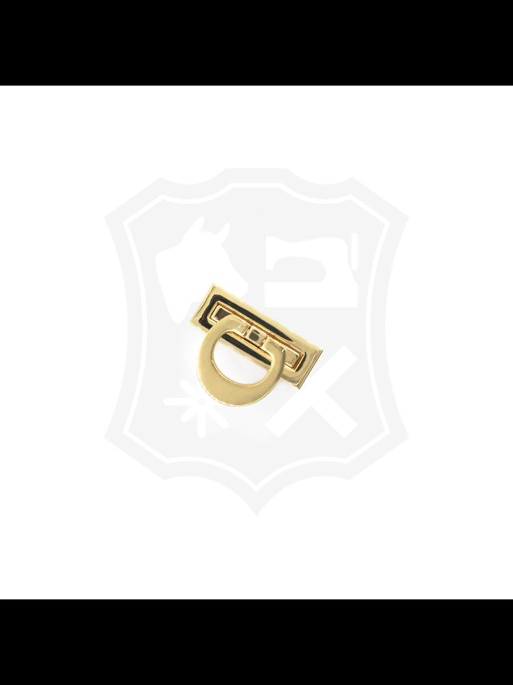 Rechthoekig Slot, goudkleurig, 19,5mm x 53mm