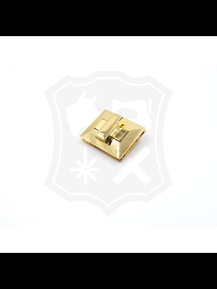 Rechthoekig Draaislot, goudkleurig, 40mm x 50mm