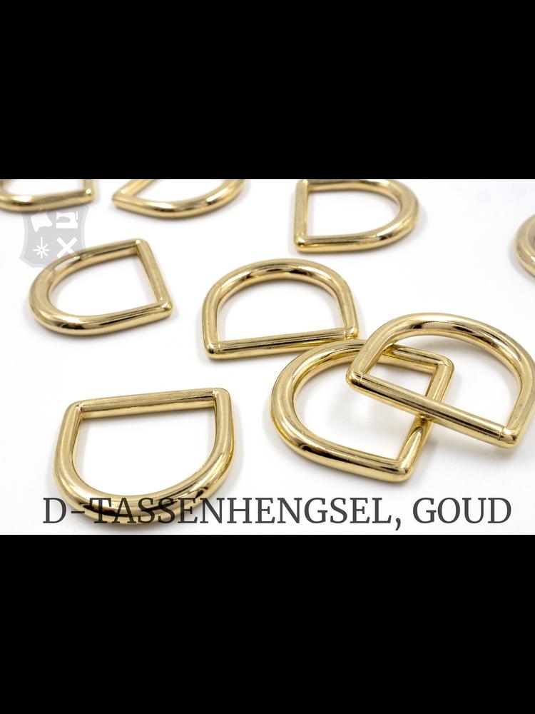 D- Tashengsel Bevestiging, goudkleurig, diverse (4 stuks)
