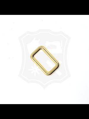 Rechthoekige Ring, goudkleurig, diverse maten (3 stuks)
