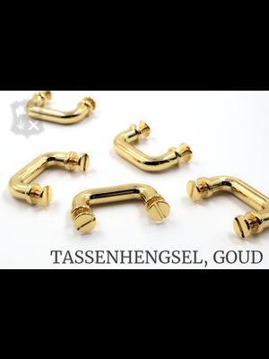 Tashengsel Bevestiging, goudkleurig, diverse (2 stuks)