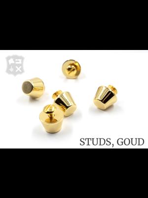 Luxe Studs, schroef, goudkleurig, 15mm (2 stuks)