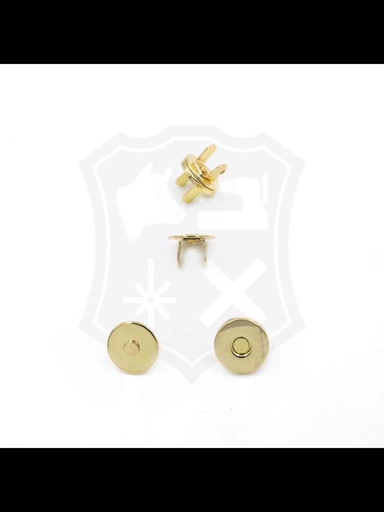 Rond Magneetslot, extra dun, goudkleurig, 14,5mm (3 stuks)