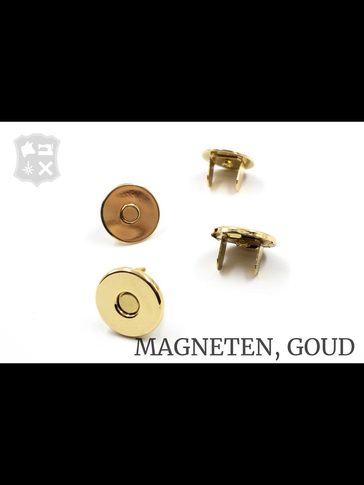 Rond Magneetslot, extra dun, goudkleurig, 18,6mm (4 stuks)