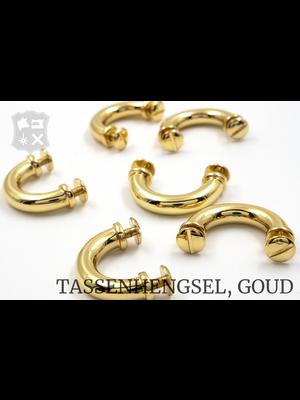 Tashengsel Bevestiging, schroef, goudkleurig, 16mm (2 stuks)