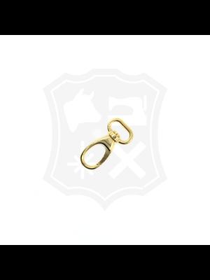 Musketonhaak, goudkleurig, 21 mm (2 stuks)