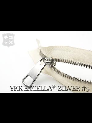 YKK Excella® YKK Excella Rits #5 zilver op maat (dubbel / head-to-head) -  (A2 - Ivoor 841)