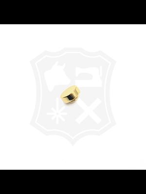 Studs, goudkleurig, schroef, diameter 14,8mm (4 stuks)