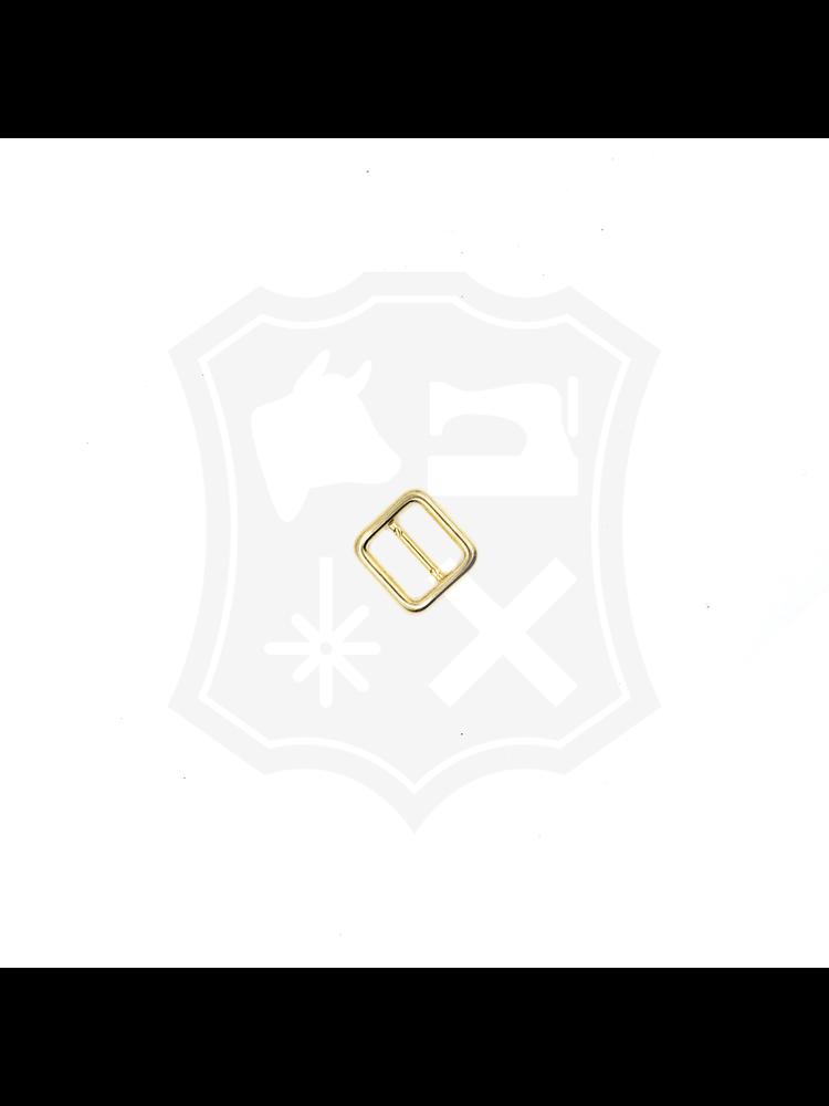 Schuifgesp, goudkleurig, diverse maten (4 stuks)