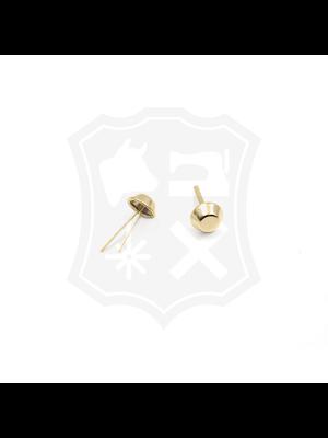 Studs, goudkleurig, 11,6 mm (10 stuks)