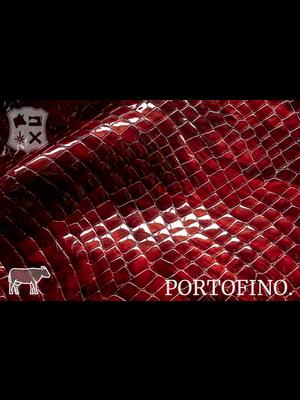 Portofino Lakleder met luxe print, Two-Tone kleur (ZA: Ruby)