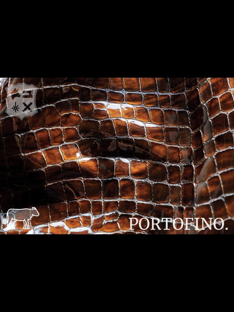 Portofino Portofino Lakleder met luxe print, Two-Tone  (V17: Espresso)