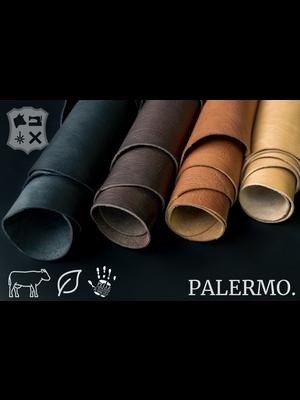 Palermo Palermo plantaardig gelooide tuigleder in Donkerbruin - (V16: Dark Brown)
