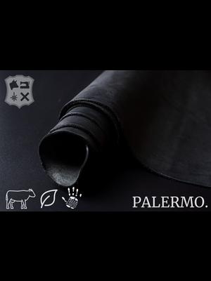 Palermo Palermo plantaardig gelooide tuigleder in Zwart - (ZA19: Black)