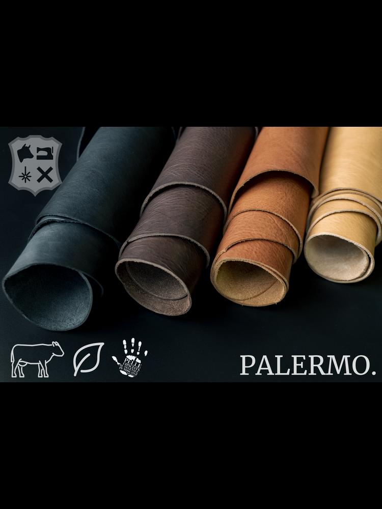 Palermo Palermo plantaardig gelooide tuigleder in Naturel - (A19: Natural)