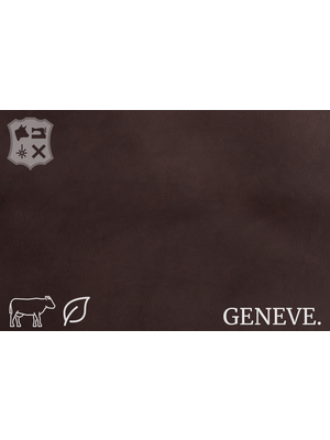Geneve Plantaardig gelooid nappa leder in de kleur Ebony Brown - De Geneve collectie