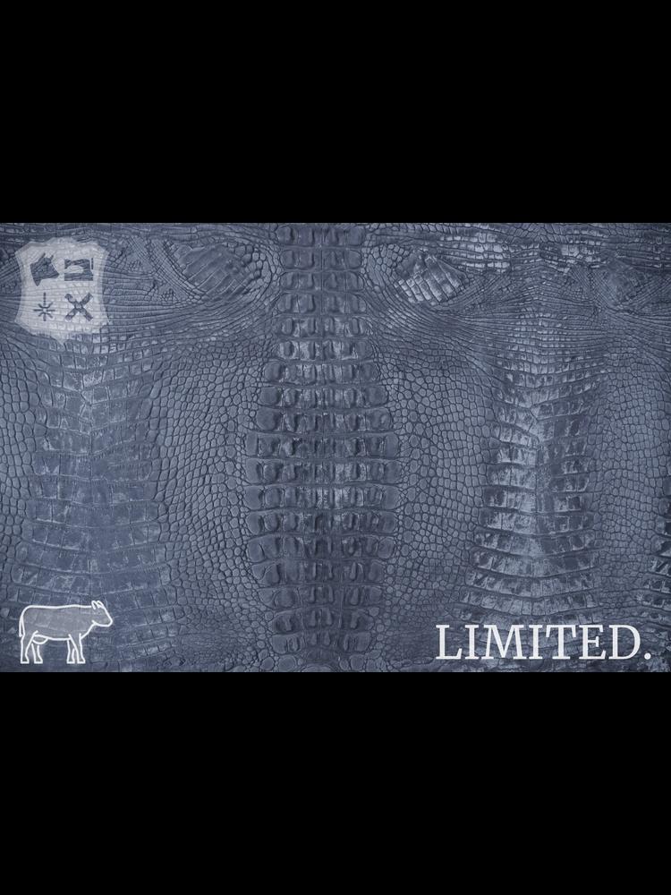 Krokoprint met pull-up in grijs tint, 1.3-1.5 mm