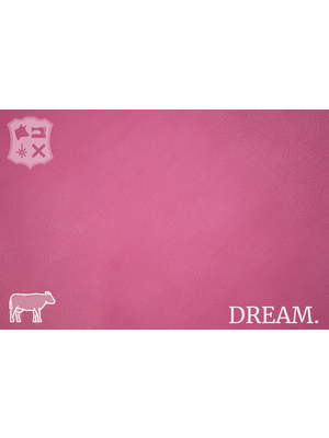 Dream Soepel Nappa leder, volnerf (S10: Pink donut)