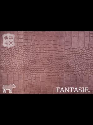 Fantasie Oud-Roze leder met kroko-print