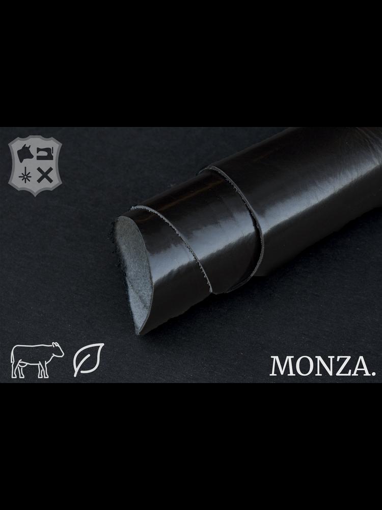 Monza Zwart plantaardig gelooide tuigleder - De Monza Collectie