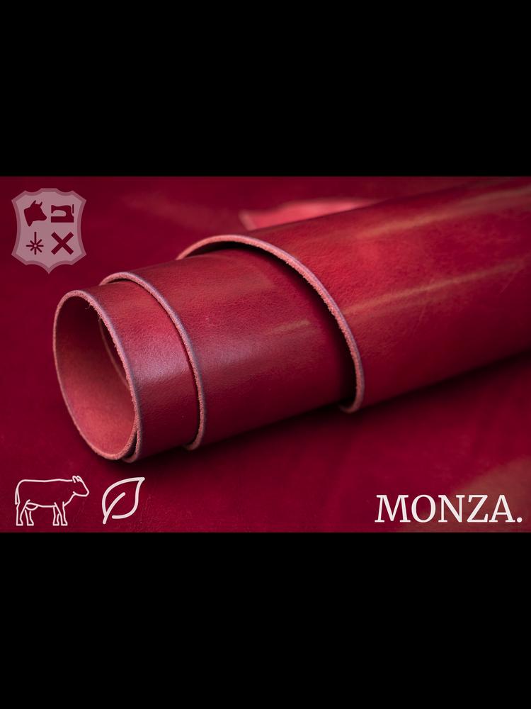 Monza Retro rood plantaardig gelooid tuigleder - De Monza Collectie