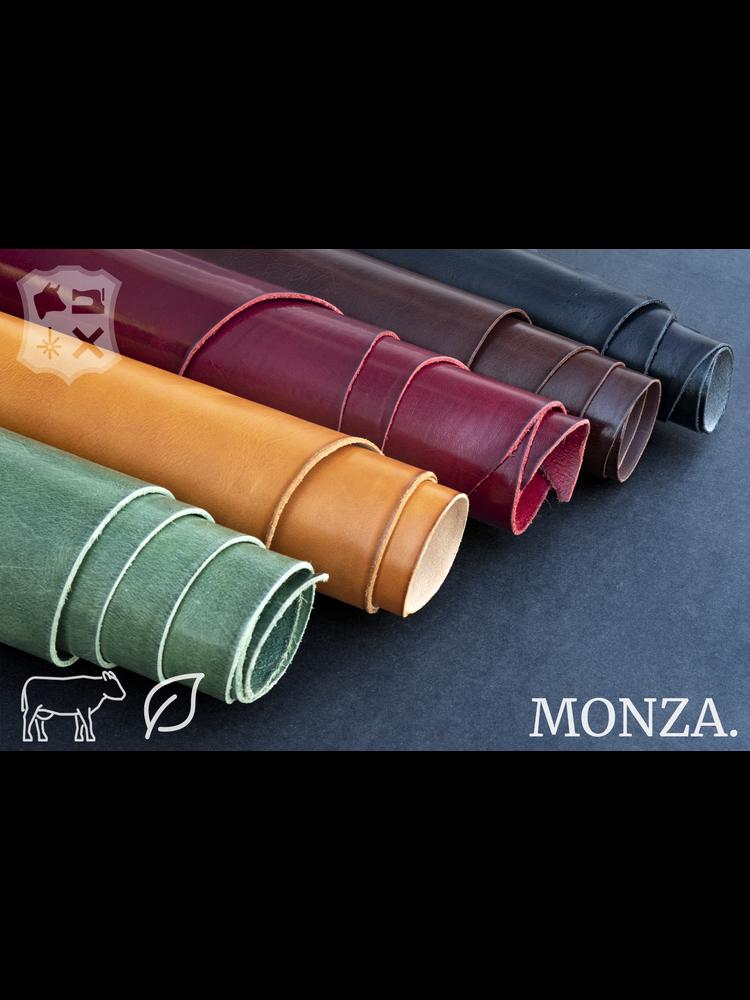 Monza Donkerbruin plantaardig gelooide tuigleder - De Monza Collectie