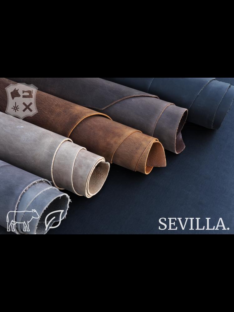 Sevilla Ash zwart plantaardig gelooid tuigleder - De Sevilla Collectie
