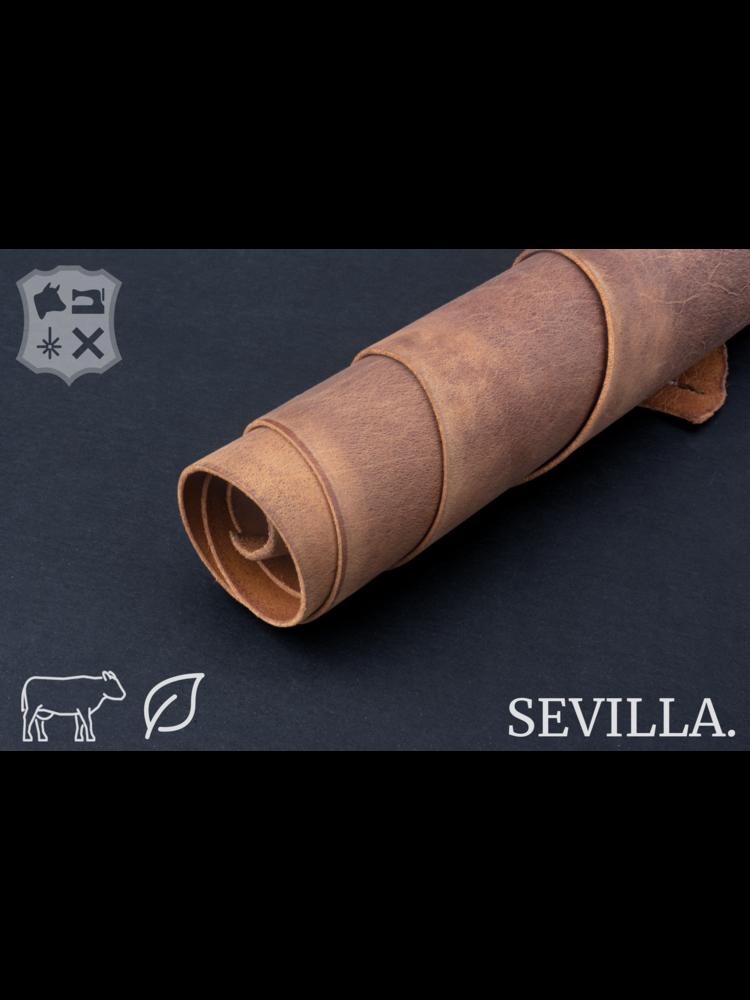 Sevilla Cinnamon cognac plantaardig gelooid tuigleder - De Sevilla Collectie
