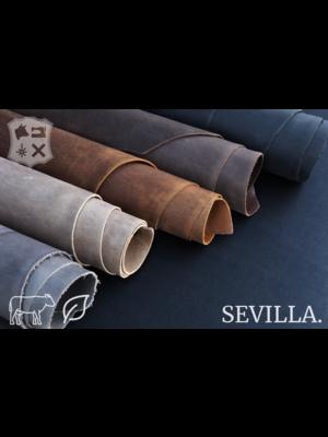 Sevilla Dust grijs plantaardig gelooid tuigleder - De Sevilla Collectie