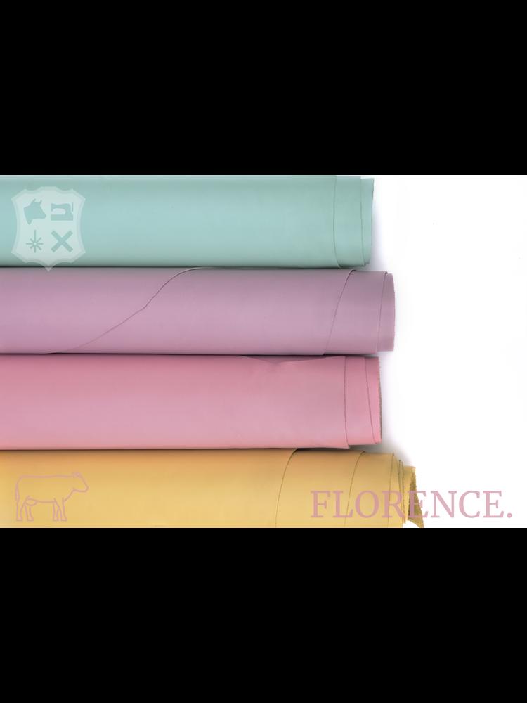 Florence Buttercream - Florence collectie: Strak glad leder met een zijdeglans