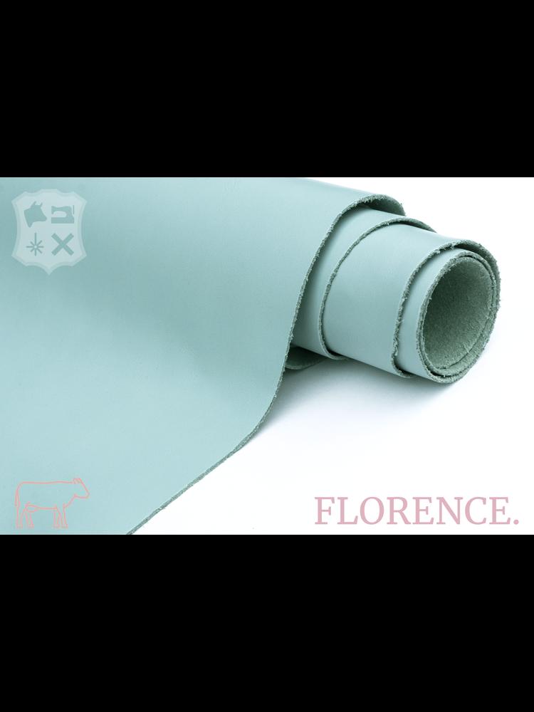 Florence Peppermint blauw - Florence collectie: Strak glad leder met een zijdeglans