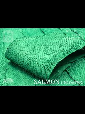 Nordic Fish Leather Visleer Zalm in de kleur Fagur 135s (groen), niet gefinisht