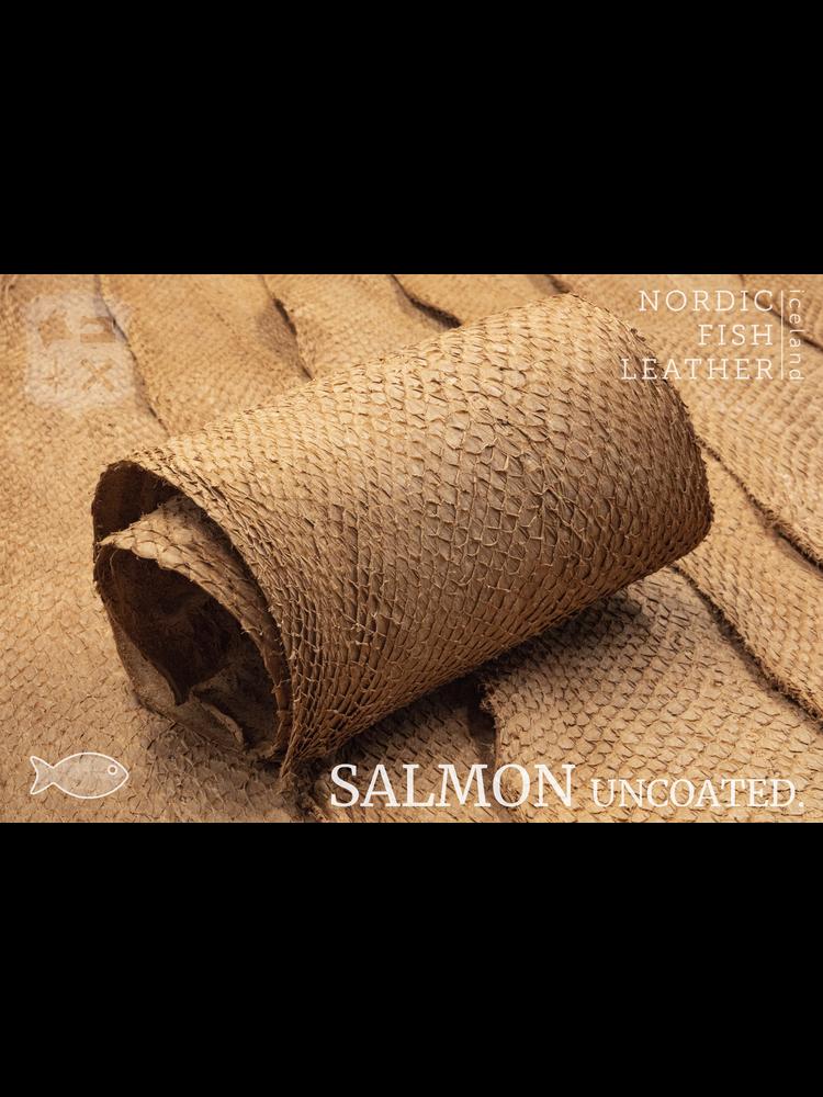 Nordic Fish Leather Visleer Zalm in de kleur Haust 942s (cognac), niet gefinisht
