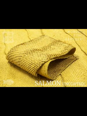 Nordic Fish Leather Visleder Zalm in de kleur Gull 138s (geel), niet gefinisht