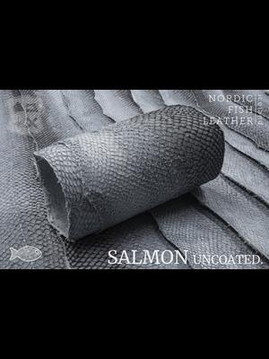 Nordic Fish Leather Visleer Zalm in de orginele kleur Natural 138s (niet geverfd), niet gefinisht