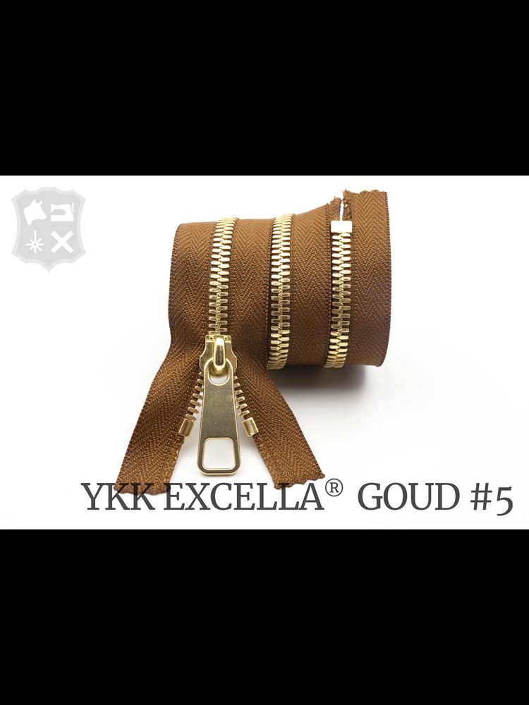 YKK Excella® YKK Excella Rits #5 Goud op maat (enkel) - (C17 - Cognac 859)