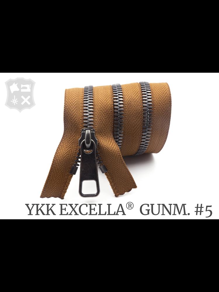 YKK Excella® YKK Excella Rits #5 Gunmetal op maat (enkel) - (C17 - Cognac 859)