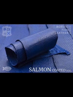 Nordic Fish Leather Zalm, gefinisht met zijdeglans, gesloten (I17: Kaldi 141s)